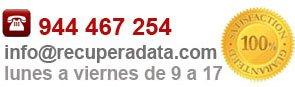 Contactar RecuperaData | Teléfono RecuperaData 944 467 254