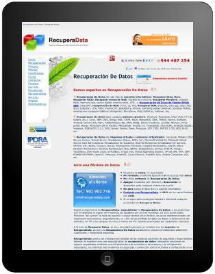 Recuperación de datos de tablets